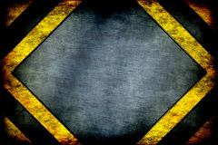 Hazard background. warning lines, black and yellow. Royalty Free Stock Photo