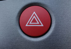 Hazard button. Inside car used for driving stock photography
