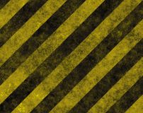Hazard Danger Background. Texture With Common Black and Yellow Stripes Stock Photo