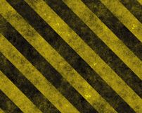 Hazard Danger Background. Texture With Common Black and Yellow Stripes Royalty Free Stock Image