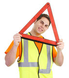 Hazard guy Stock Photography