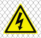 Hazard high voltage sign Royalty Free Stock Image