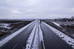 Hazard highway Stock Images