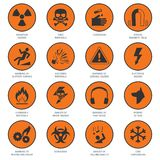Hazard Icons Black Stock Images