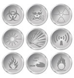 Hazard Icons Royalty Free Stock Images
