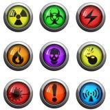 Hazard icons set Royalty Free Stock Images