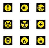 Hazard icons set Royalty Free Stock Photography