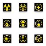 Hazard icons set Stock Photography