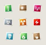 Hazard icons set Stock Photo
