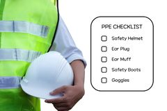 Hazard Identification and Risk Assessment concept. stock photography