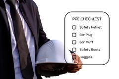 Hazard Identification and Risk Assessment concept. stock photos