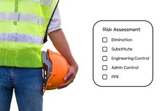Hazard Identification and Risk Assessment concept. royalty free stock image