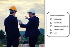 Hazard Identification and Risk Assessment concept. royalty free stock photo