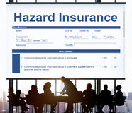 Hazard Insurance Property Protection Terms Concept. Business People Meeting Hazard Insurance Property Protection royalty free stock photos