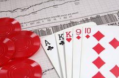 hazard inwestycji obraz royalty free