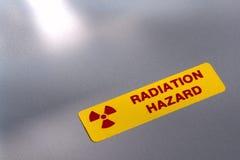 hazard label radiation warning Стоковое фото RF