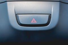 Hazard light. In a car stock image
