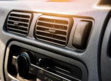 Hazard light in the car.  royalty free stock image