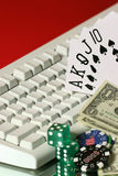 hazard linię Zdjęcia Stock