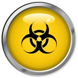 Hazard Metalic Button Royalty Free Stock Photography