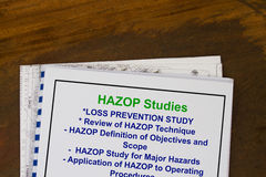 Hazard and Operability - HAZOP. Hazard and OperabilityHAZOP - many uses in the oil and gas industry stock images
