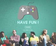 Hazard rozrywki zabawy hobby technologii cyfrowej pojęcie Zdjęcia Stock