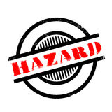 Hazard rubber stamp Royalty Free Stock Images