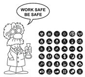 Hazard security and office Icon collection Royalty Free Stock Photo