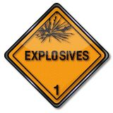 Hazard sign explosive 1. Hazard sign explosive number one Royalty Free Stock Photography