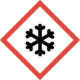 Hazard sign with ice royalty free stock images
