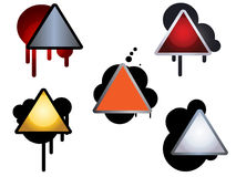 Hazard sign icons Royalty Free Stock Image