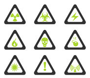 Hazard Sign Icons Royalty Free Stock Photography