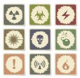 Hazard Sign Icons Stock Image