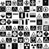 Hazard signs collection vector