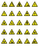 Hazard signs set Stock Photo