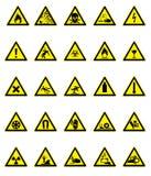 Hazard Signs Set Stock Photo