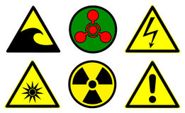 Hazard signs set 2 Stock Image