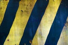 Hazard stripes. Grungy yellow and black hazard stripes Stock Photos