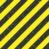 Hazard stripes. Black and yellow lines abstract backdrop. Vector. Stock Images