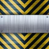 Hazard Stripes Brushed Aluminum Royalty Free Stock Photo