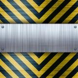 Hazard Stripes Brushed Aluminum Royalty Free Stock Photo