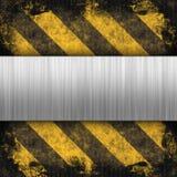 Hazard Stripes Brushed Metal Royalty Free Stock Photo