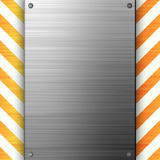 Hazard Stripes Brushed Metal Royalty Free Stock Image