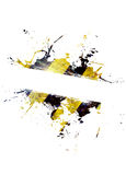 Hazard Stripes Splatter Royalty Free Stock Photo