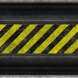 Hazard stripes steel Stock Photo