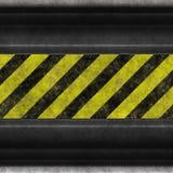 Hazard stripes steel Stock Photo