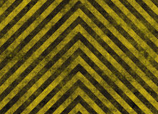 Hazard stripes warning plaque stock image