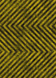 Hazard stripes warning sign Royalty Free Stock Photography