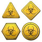 Hazard symbols Stock Image
