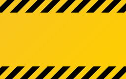 Free Hazard Texture. Yellow And Black Diagonal Stripes. Caution Or Warning Template. Construction Border Template. Attention Stock Photography - 170643102